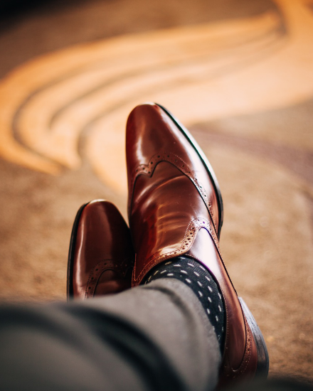 Picture of Men Dark Brown Shoes