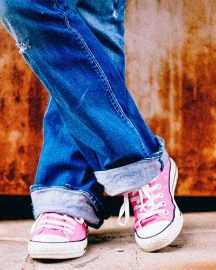 Picture of Men Pink Casual Shoes