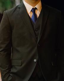 Picture of Men Dark Black Suit