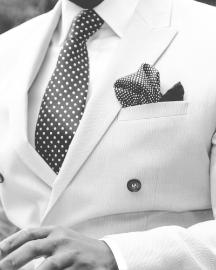 Picture of Men Light White Suit