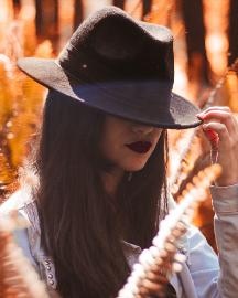 Picture of Women Dark Brown Hats